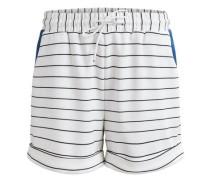 Gestreifte Shorts weiß