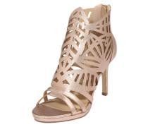 High-Heels mit Cut-Outs gold / rosé