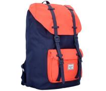 Großer Rucksack 'Little America' blau / orange