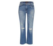 Jeans 'crooped Boot' blau