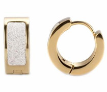 Paar Creolen gold / weiß