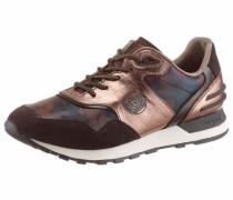 Sneaker braun / kupfer / weiß
