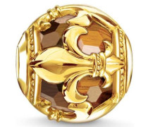 Bead 'Karma Bead Bourbonische Lilie K0235-887-2' gold