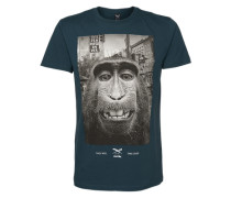 T-Shirt 'Monkey Takeover' grün