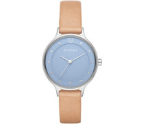 Armbanduhr »Anita Skw2471« rauchblau / hellbraun