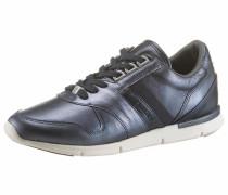 Sneaker aus Leder dunkelblau