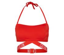 Bikini-Top mit Label-Bund feuerrot