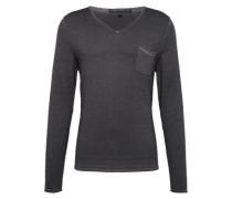Pullover mit V-Ausschnitt 'Rafal' basaltgrau