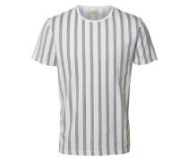 O-Ausschnitt-T-Shirt schwarz / weiß