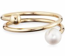 Perlenring 'love pearl twist C7335R/90/46' gold