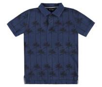 'Poloshirt' blau / dunkelblau / schwarz