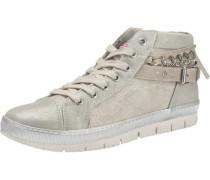 Hohe Sneaker in Metallic-Optik