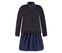 2tlg. Set Jeanskleid + Pullover Mädchen blau