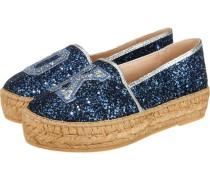 Glitter Slipper blau