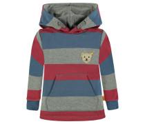 Sweatshirt Jungen Kinder Baby blau / graumeliert / rot
