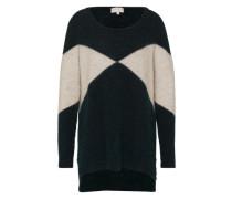 Pullover 'Tayla' hellgrau / dunkelgrün
