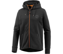 Sweatjacke orange / schwarz