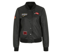'onlSANDY Badge' Lederjacke schwarz