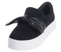 Detailreiche Sneaker schwarz