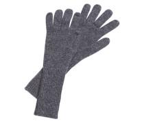 Strickhandschuhe aus Kaschmir grau