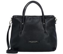 Handtasche Leder 29 cm schwarz