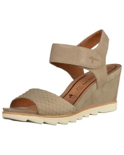tamaris damen tamaris sandalen beige reduziert. Black Bedroom Furniture Sets. Home Design Ideas