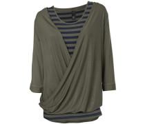 Shirt-Zweiteiler oliv