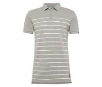 Poloshirt graumeliert / weiß