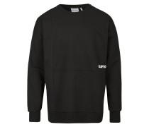 Sweatshirt 'Yesters' schwarz / weiß