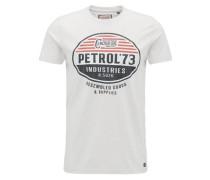T-Shirt anthrazit / rot / weiß