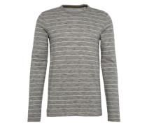 Langarmshirt 'stripe mel lsv' dunkelgrau