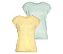Kurzarmshirt gelb / mint