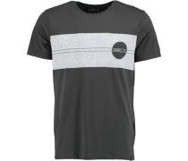 T-Shirt 'santa Cruz Panel' grau / schwarz