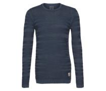 Pullover 'structured crew neck' blau