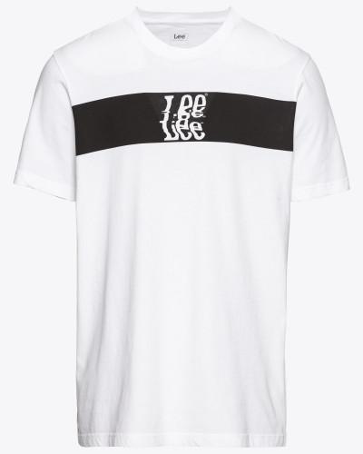 T-Shirt 'banner Tee' schwarz / weiß