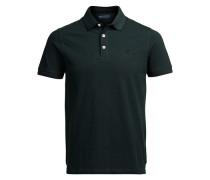 Baumwollpikee-Poloshirt grün