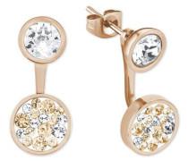Paar Ohrstecker 'Ear Jackets' rosegold / silber