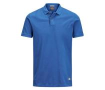 Pikee-Poloshirt blau