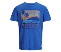 Artwork T-Shirt blau