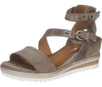 Sandaletten 'Pampas' grau / weiß