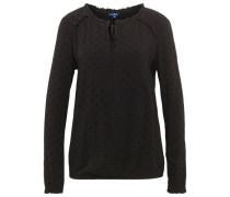 Shirt / Blouse gepunktete Bluse schwarz