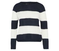Pullover 'onlCHAMPAGNE Stripe' nachtblau / weiß