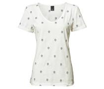 Stickerei-Shirt ecru / navy