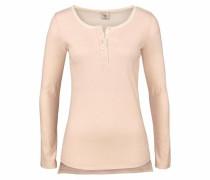 Langarmshirt rosa / wollweiß
