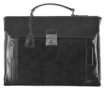 Passpartout Messenger Umhängetasche Leder 37 cm schwarz