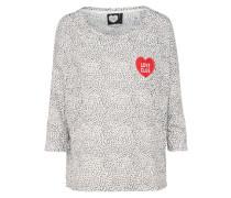 Shirt 'LS Love Patch' rot / schwarz / weiß