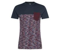 T-Shirt aus Baumwolle navy / weinrot