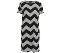 Kleid mit kurzen Ärmeln Zickzack- grau