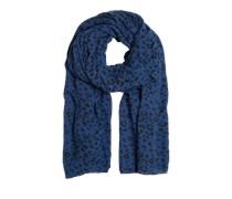 Oversize-Schal blau