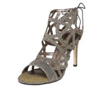 Sandalette 'Spartan' mit Fersen-Schnürung gold / silber